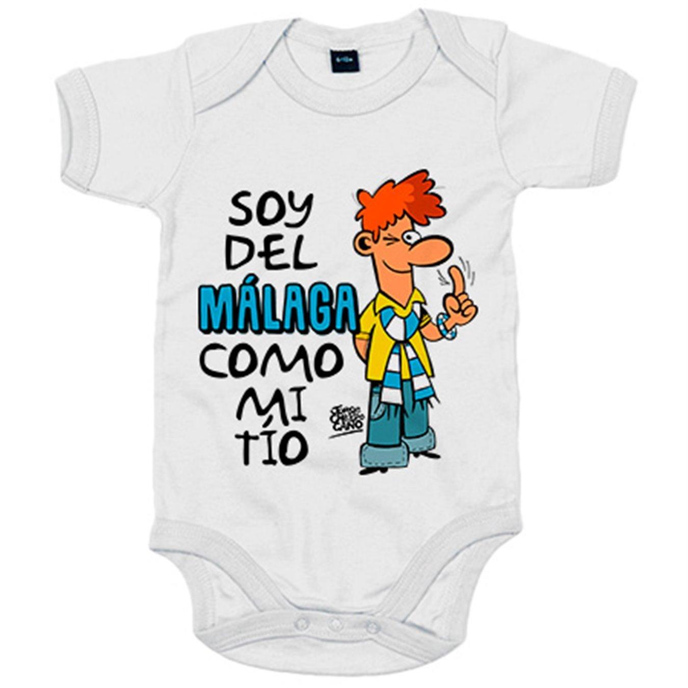 Body bebé soy del Málaga como mi tío Jorge Crespo Cano - Blanco, 12-18 meses: Amazon.es: Bebé