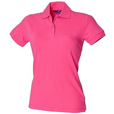 Henbury - Polo - para Mujer Rosa Fucsia: Amazon.es: Ropa y accesorios