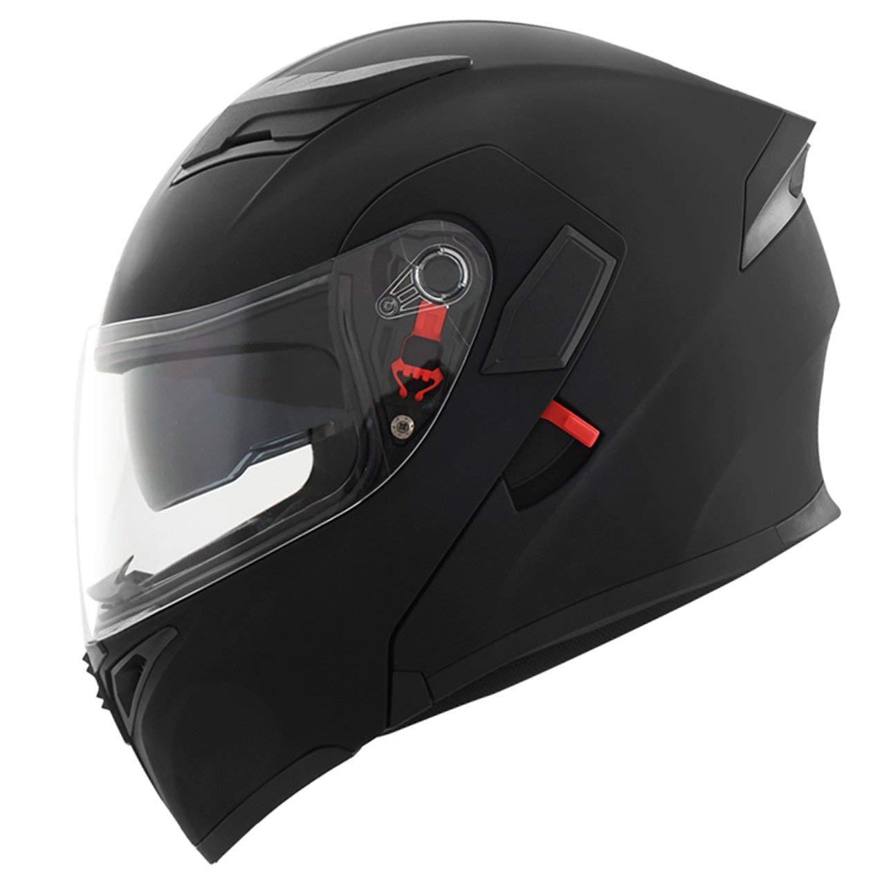 Visor de Moda Que expone la Cara Doble de la Motocicleta del Casco de la Motocicleta Cascos de la Cara Abierta de Invierno Que Protege la Cara de Motocross: ...