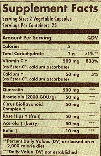Solgar Quercetin Complex With Ester C Plus Vegetable Capsules 50