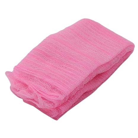 Faliya Fiber Toallas Ducha Cuerpo Piel Limpieza Manopla Scrubbing Toalla, Rosa, As Description