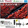 "LG Electronics OLED55C9PUA C9 Series 55"" 4K Ultra HD Smart OLED TV (2019) w/Xbox One S NBA 2K19 w/3 in 1 Wall Mount kit- Wall Mount, HDMI Cable, TV Cleaning Kit - LG Authorized Dealer"
