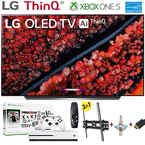 LG Electronics OLED55C9PUA C9 Series 55″ 4K Ultra HD Smart OLED TV (2019) w/Xbox One S NBA 2K19 w/3 in 1 Wall Mount kit- Wall Mount, HDMI Cable, TV Cleaning Kit – LG Authorized Dealer