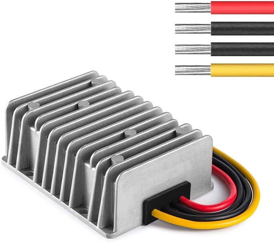 ZHITING DC/DC 24V Reduzca a 12V 30A Reductor del regulador del convertidor de 360W, Módulo de voltios del Transformador de la Fuente de alimentación para el Carro de Golf Módulo de alimentación