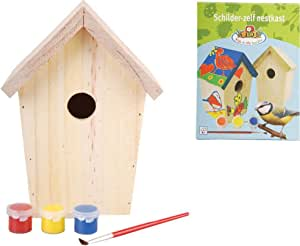 Esschert Design KG145 - Caja Nido para pájaros (Madera, para Pintar): Amazon.es: Jardín