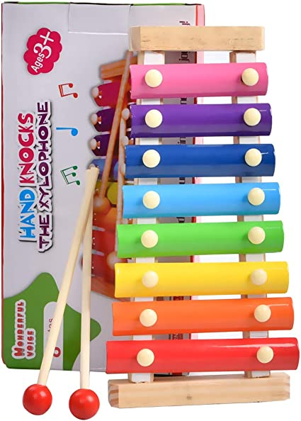Small Education Wooden Xylophone For Children Musical Toys Xylophone Music