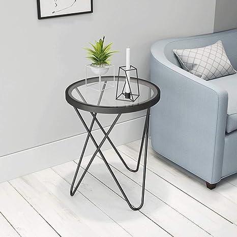Amazon.com: Mesa auxiliar, pequeño soporte de metal y ...