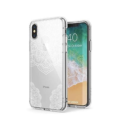 best website bcd63 7ea1c Amazon.com: iPhone XR Case, Clear iPhone XR Case, LUMA White Mandala ...