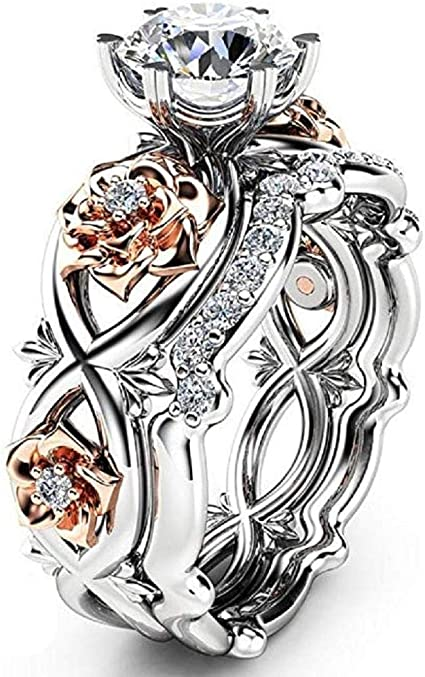 Beautiful Flower 925 Silver Wedding Engagement Ring Women/'s Jewelry Gift S5-10