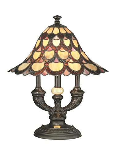 Dale Tiffany TA70112 Peacock Table Lamp, Bronze