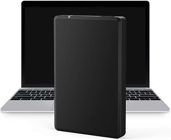 スリム外付けハードドライブポータブルHDD–PCラップトップおよびMac用のブラックUSB3.0(ブラック),80GB