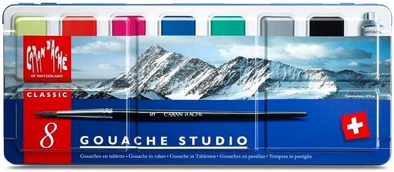 CARAN DACHE//CREATIVE ART 1000308 CARAN DACHE GOUACHE STUDIO 8 PAN SET