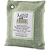 Moso Natural Air Purifying Bag. Odor Eliminator for Cars, Closets, Bathrooms and Pet Areas. Captures and Eliminates Odors. Green Color, 200-G