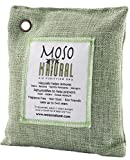 Automotive : Moso Natural Air Purifying Bag. Odor Eliminator for Cars, Closets, Bathrooms and Pet Areas. Captures and Eliminates Odors. Green Color, 200-G