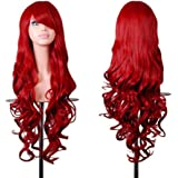 "Rbenxia Wigs 32"" Women Wig Long Hair Heat Resistant Spiral Curly Cosplay Wig Anime Fashion Wavy Curly Cosplay Daily…"
