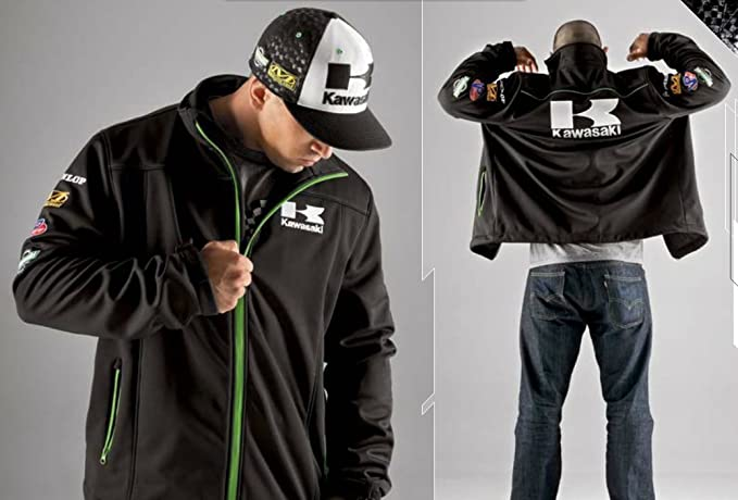 2014 Kawasaki raza suave carcasa Zipfront Zip Up chaqueta para hombre 2 X 2 X L K004 - 0278-bk2 X: Amazon.es: Coche y moto