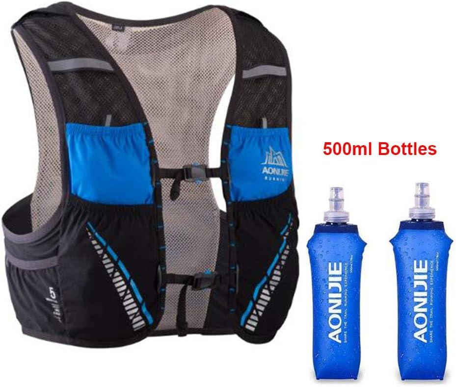 escalade course /à pied Aonijie Sac /à dos dhydratation 5 l avec 2 bouteilles de 500 ml pour randonn/ée camping