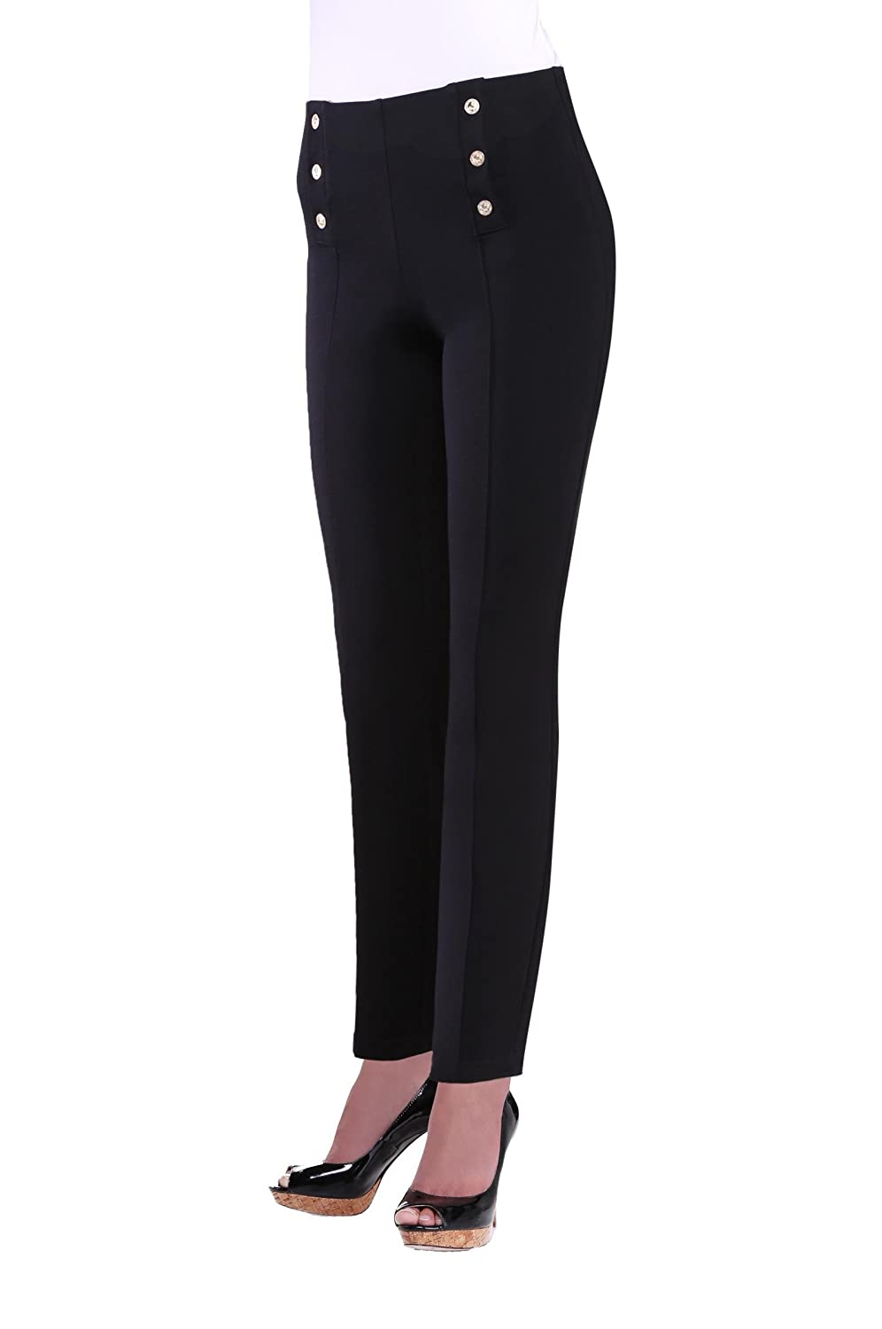 Women's Slimming Contour Nautical Black Pants