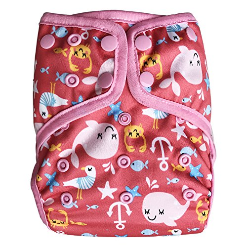EcoAble Baby Waterproof PUL Cloth Diaper Cover AI2, Snaps