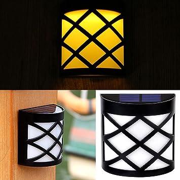 Solar Gartenlampe,Miya Freien Solar Lampe Lichtsensor Licht Wasserdicht LED  Solar Licht Im Outdoor Garten
