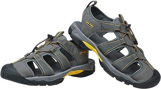 CAMEL CROWN Sandales d/ét/é pour Hommes Sports de Plein air Trekking Sandales de Randonn/ée avec Velcro R/ésistant R/églable Antid/érapant Plage Voyage Confortable Sandales de p/êcheur deau Taille 40-46