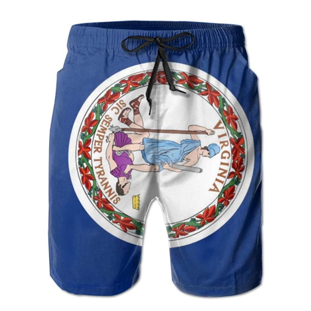 State Flag Mens Beach Shorts Custom Funny Swimwear Men Boardshort Beach Pants Coverup