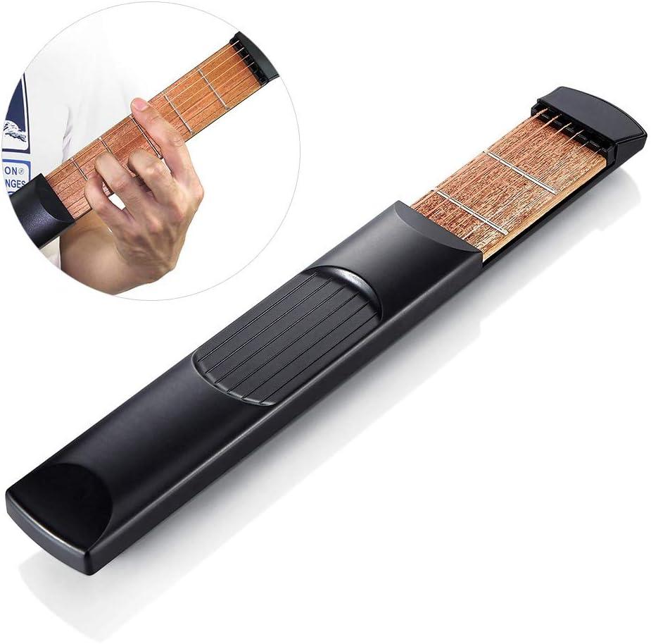 Dr.Taylor Herramienta de Práctica de Guitarra Portátil, Pocket Guitar Acoustic Guitar Chord Trainer para Principiantes, 6 Trastes