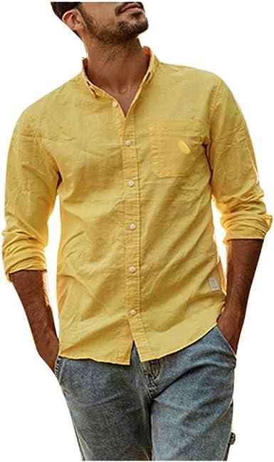 Overdose Camisas Hombre Cuadros Manga Larga T Shirt Hombre Oferta Elegantes para Bodas Camisas Hombre Ibicenca Originales Ropa Diaria: Amazon.es: Ropa y accesorios