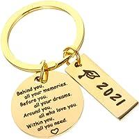 BESTOYARD Graduation Gifts for Him Her 2021 Keychain Graduation Theme Key Ring Letter Key Chain Gift Bag Accessory