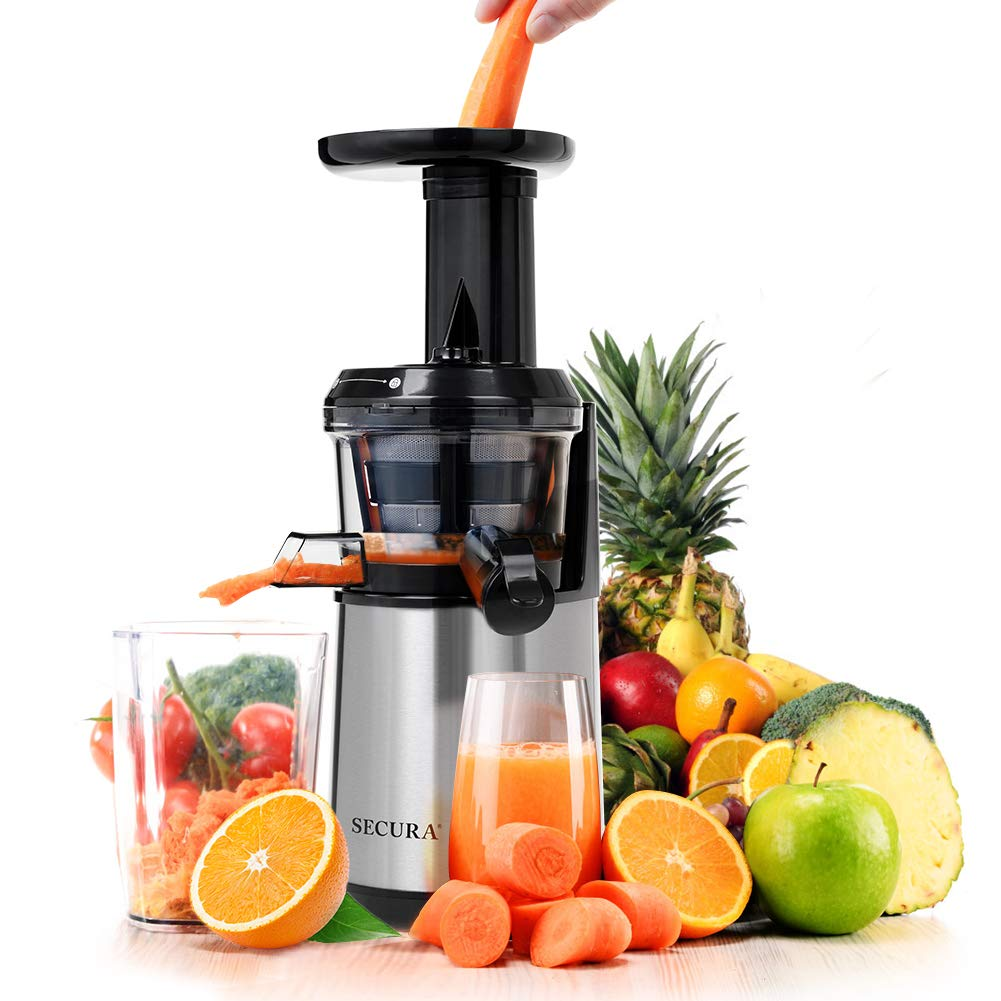 Secura Slow Juicer Masticating Juicer Big Mouth' Cold Press Juicer, Low Speed Juicer for High Nutrient Fruit and Veggies Juice by Secura (Image #1)