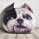 NUO-Z 3D Cushion - Bedside Nap Sleep Pillow Funny Short Plush Cushion - Creative Personality Gift Plush Toys - Christmas Gift, Family, Hotel, Decoration, Chair, Bed,Car,White,L