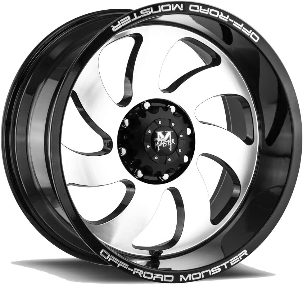 Off-Road Monster M07 Gloss Black Machined Face 20 Inch Rims