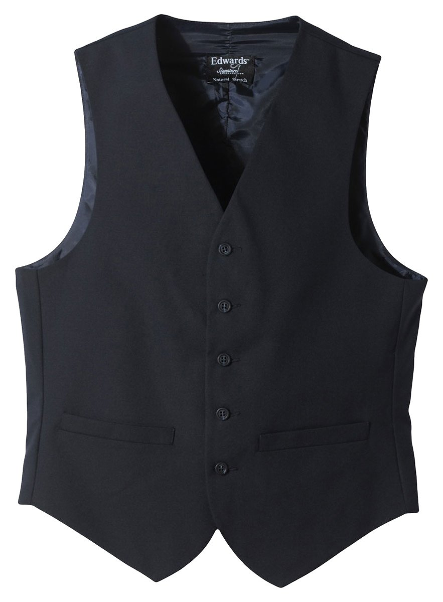 Edwards Garment Men's Fully Lined Wool Blend Dress Vest, Navy, Medium by Edwards Garment