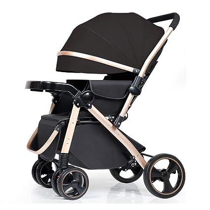 El cochecito de bebé de cuatro rondas se puede sentar y acostar Bastidor de aluminio Asiento