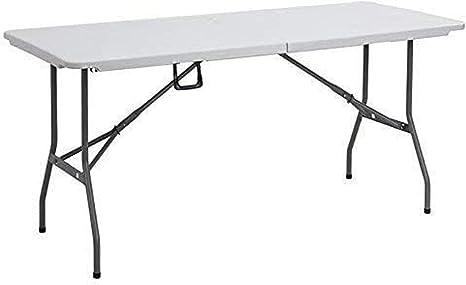 Mesa de 152 cm, plegable, rectangular, plegable, resistente ...