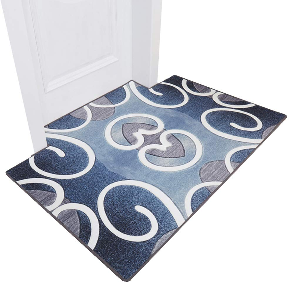 B 100x140cm JIAJUAN Front Doormat Non-Slip Soft Comfortable Rug Dirt Trapper Mats Durable Large Floor Mat Nordic (color   A, Size   120x140cm)