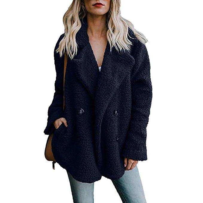 Amazon.com: Besde Womens Winter Casual Parka Jacket Lapel ...