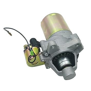 Shioshen Motor de Arranque y el solenoide para Honda GX160 GX200 168F 5.5Hp 6.5HP compresor generador pequeño Motor 31210-ZE1-023: Amazon.es: Jardín