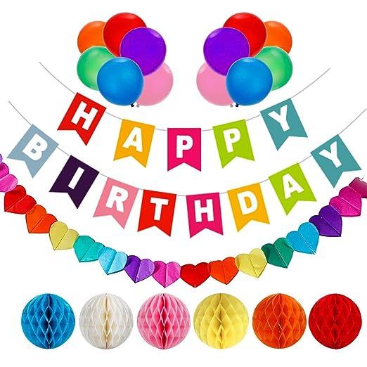 AOBETAK - cumpleaños decoraciones, 1 pancarta de feliz ...