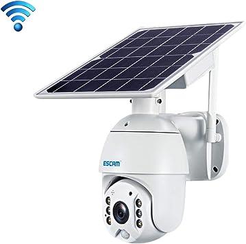 Opinión sobre La cámara Cámara IBHT QF280 HD 1080P Impermeable IP66 WiFi Panel Solar PT IP sin batería, Tarjeta de detección Nocturna de la Ayuda de visión/Movimiento/TF/Dos vías de Audio (Blanco) 1
