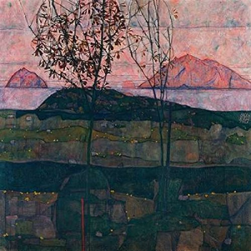 Egon Schiele Artwork - Posterazzi Setting Sun Poster Print by Egon Schiele (12 x 12)