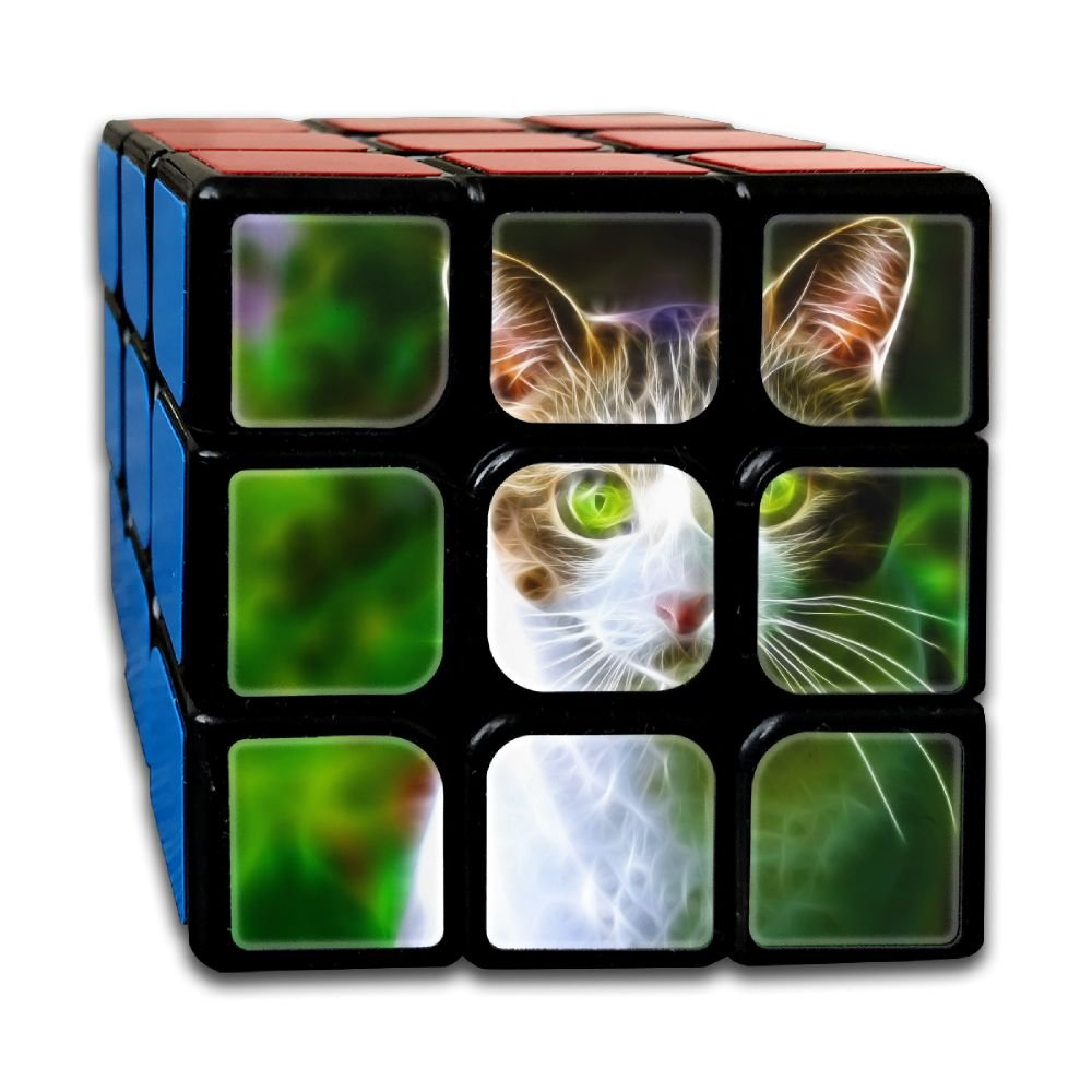 AVABAODAN Forest Cat Rubik's Cube Custom 3x3x3 Magic Square Puzzles Game Portable Toys-Anti Stress For Anti-anxiety Adults Kids