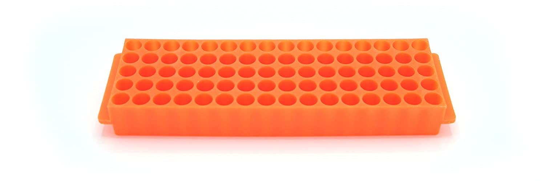 Heathrow Scientific HS29025F Microtube Rack 80 Wells Polypropylene Orange Pack of 5