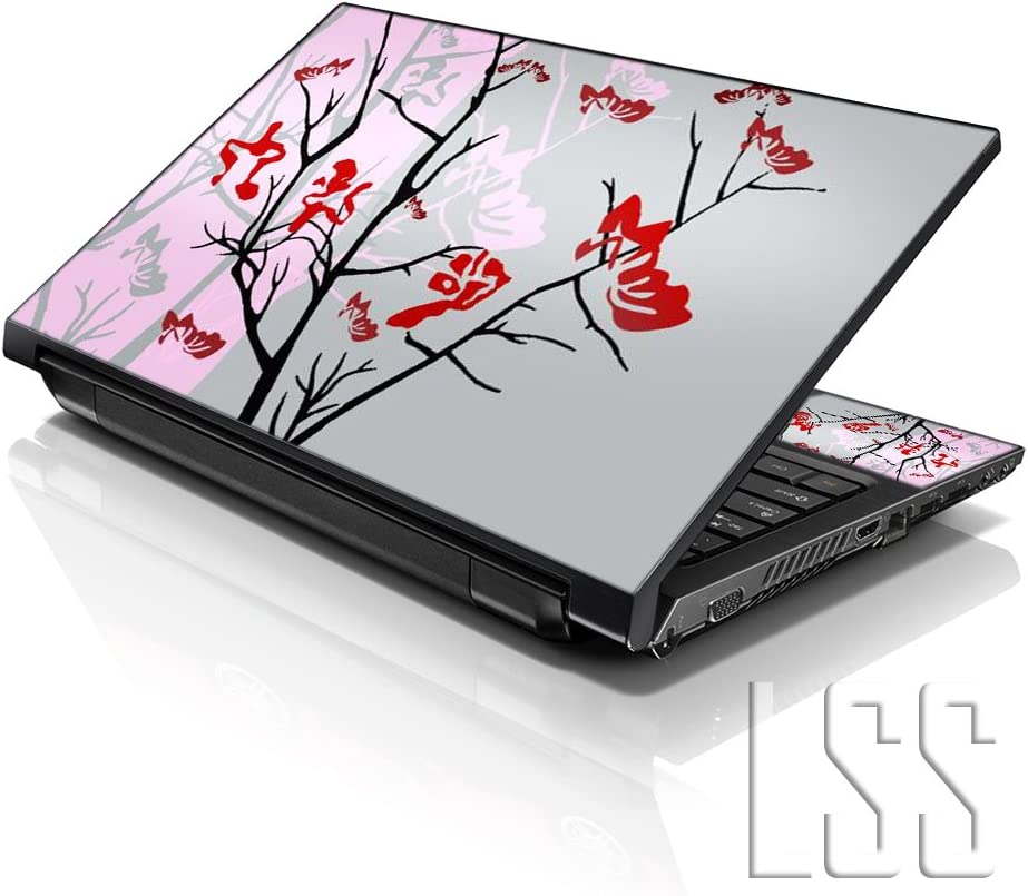 """LSS 15 15.6 inch Laptop Notebook Skin Sticker Cover Art Decal Fits 13.3"""" 14"""" 15.6"""" 16"""" HP Dell Lenovo Apple Asus Acer Compaq (Free 2 Wrist Pad Included) Pink Gray"""