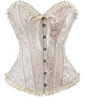 5580da46f07 YAQKUOA Women Plus Size Corset Overbust Sexy Bustier corsets Bodyshaper Top