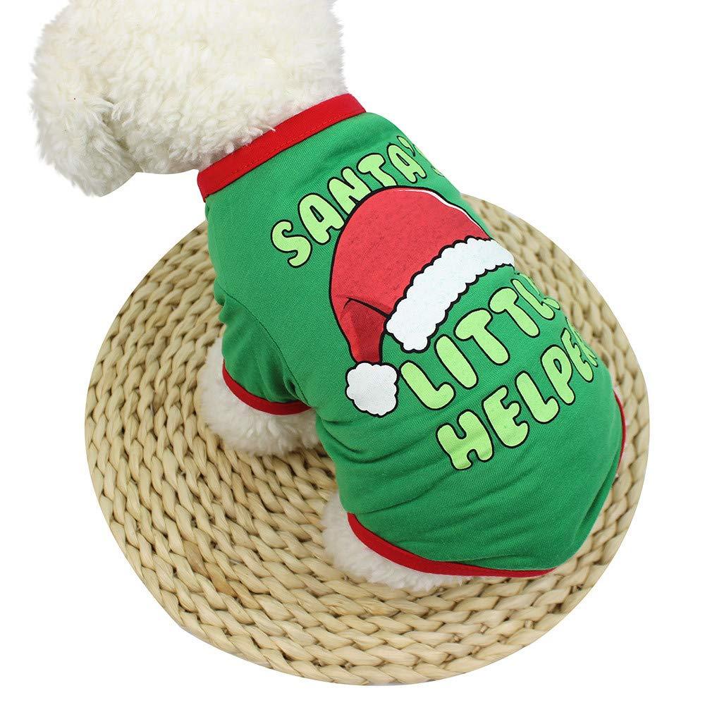 Culater/® 2018 ❤️❤ Unisex Cane Gatto Natale Stampato Vestiti da Festa Cosplay Cappotto per Animali Cucciolo ❤️❤ Progettato per Cani di Piccola Taglia Cats