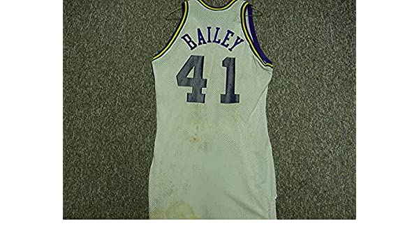 timeless design 0fa37 1fea9 Thurl Bailey Utah Jazz 1987-1988 Sand-Knit White Game Jersey ...