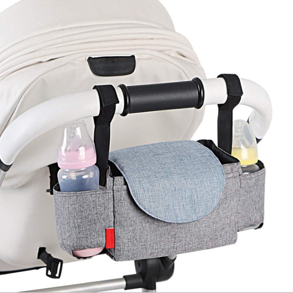 OZCOWBABY Bandejas para el manillar Multifuncion Bolsa de momia impermeable Bolsa de transporte para beb/és Multicolor (B)