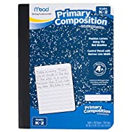 "Mead Composition Books / Notebooks, Primary, Grades K-2, Wide Ruled Paper, 100 Sheets, 9-3/4"" x 7-1/2"" Page Size (09902)"