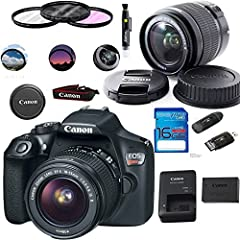Comprising a versatile set of imaging capabilities along with support for a connected workflow, the EOS Rebel T6 from Canon is a compact, sleek DSLR featuring an 18MP APS-C CMOS sensor and a DIGIC 4+ image processor.  Combined, these two tech...